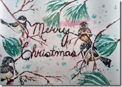 Painting Chickadee Christmas
