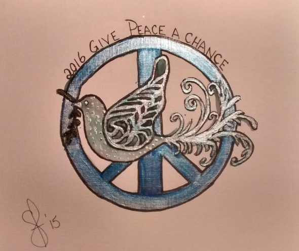 Painting Give Peace A Chance