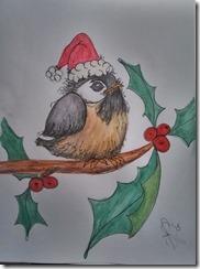 Painting Santa Chickadee