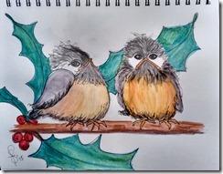 Winter Chickadees 2